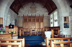 looking towards the chancel in Fortingall Church