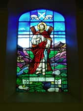Stained glass window, Glenlyon Church