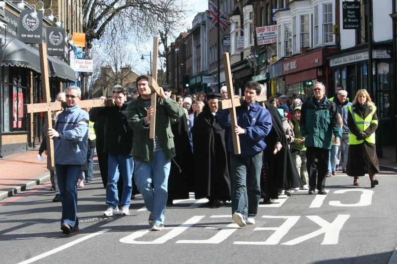 Good Friday parade of witness