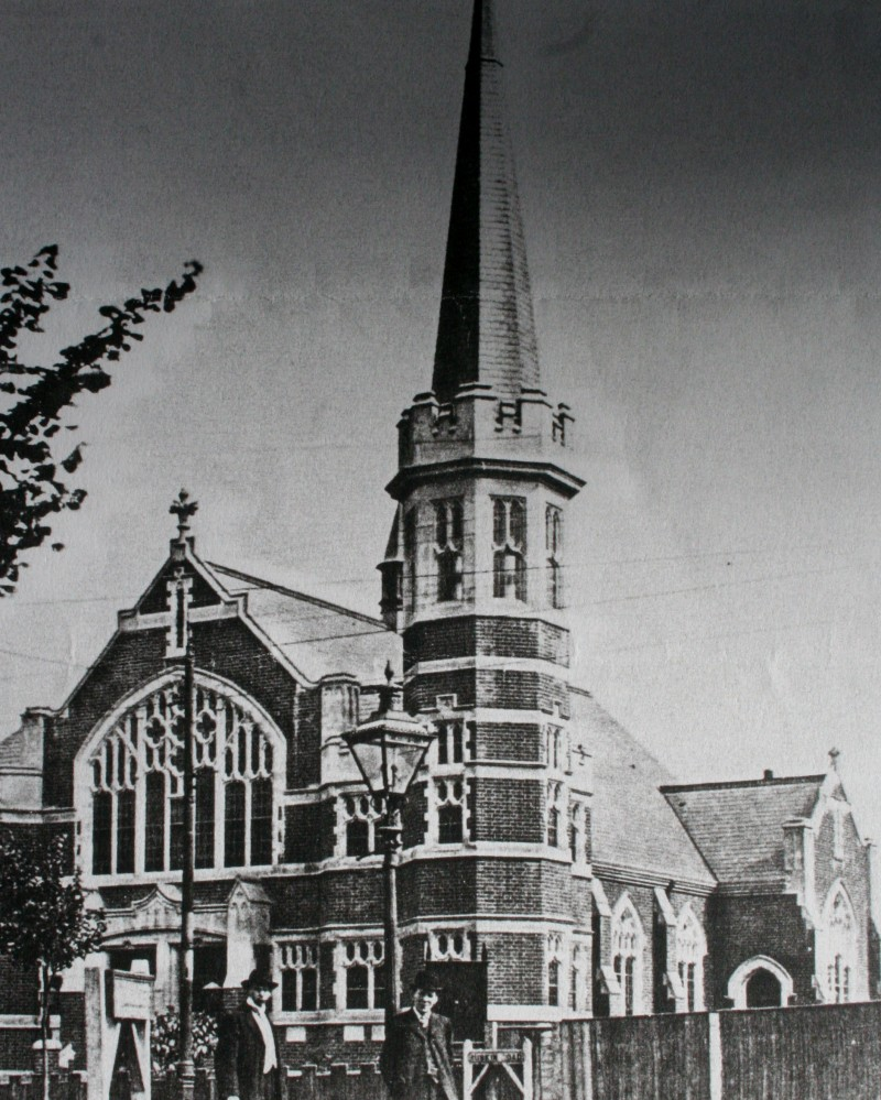 Original church (now Ruskin Hall) exterior