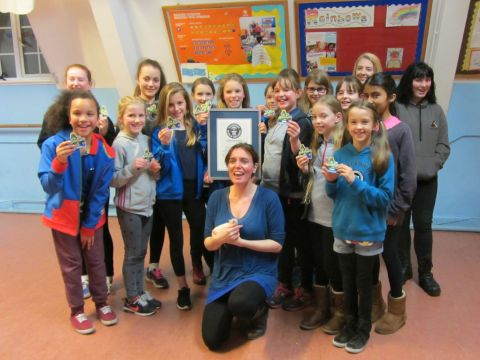 6th Carshalton Guides with adventurer Sally Kettle