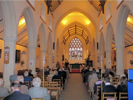 Interior and Congregation of ChristChurch