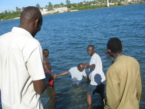 Baptism at Fort Jesus-Mombasa Kenya