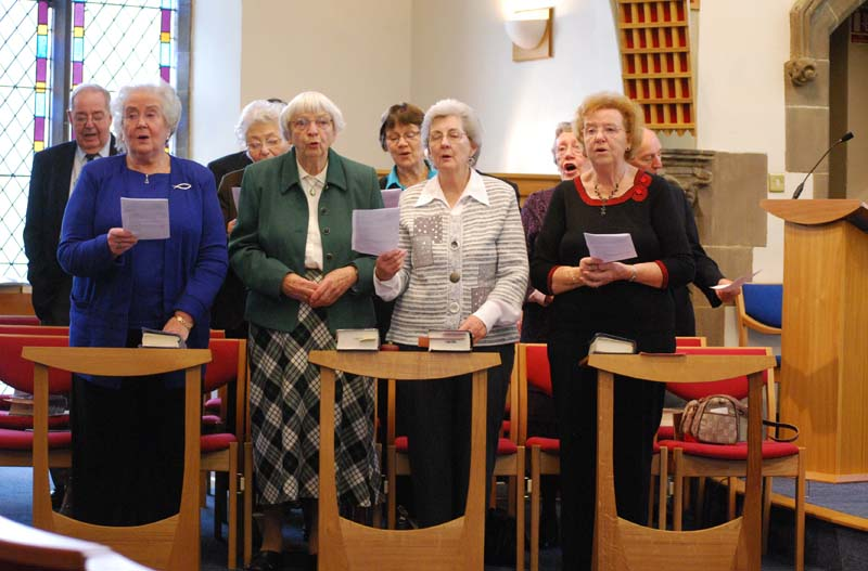 The Christchurch Singers at a Ten Thirty service