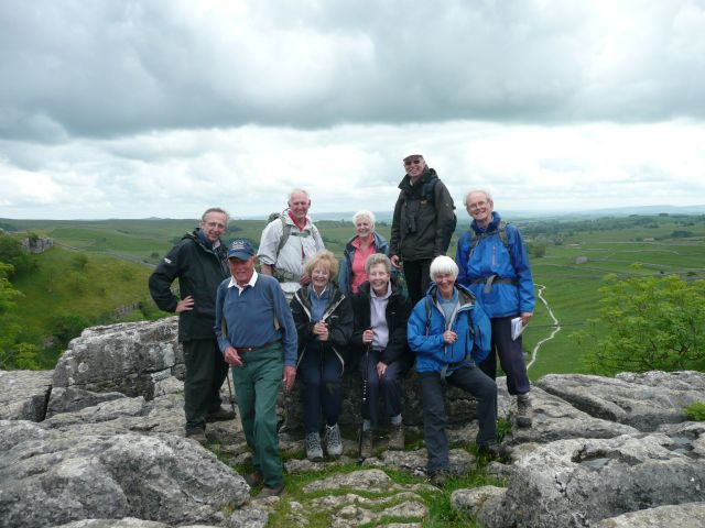 On top of Malham Cove - June 2011