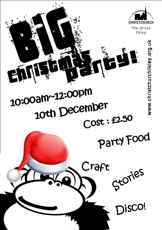 BIG Satuday Christmas Party Flyer