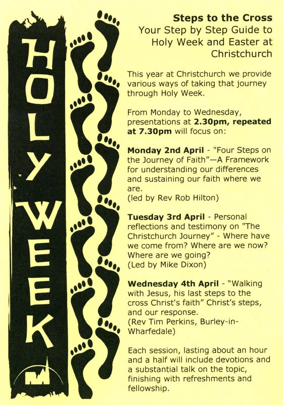 Holy Week 2012 Poster Front
