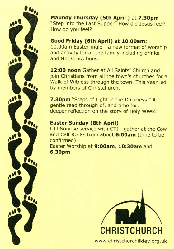Holy Week 2012 Poster Back