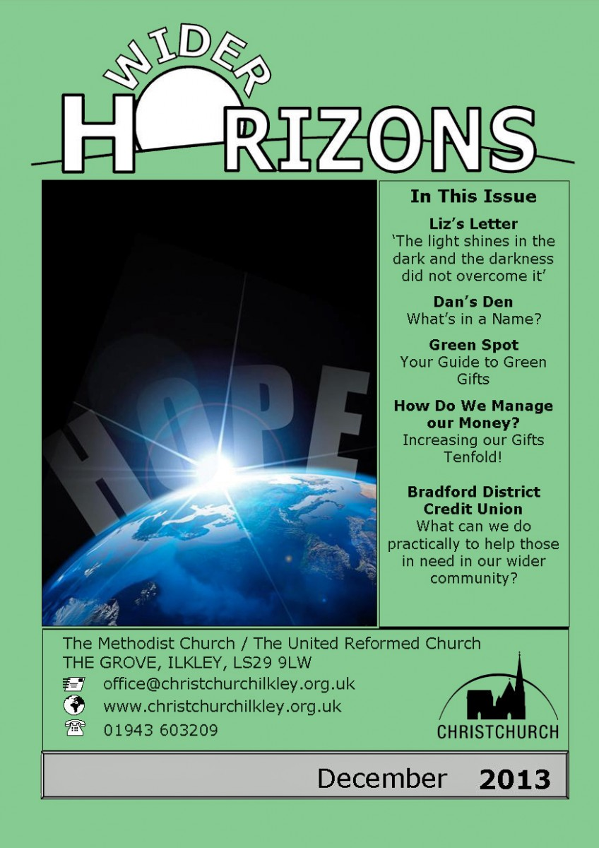 Cover of December 2013 Wider Horizons