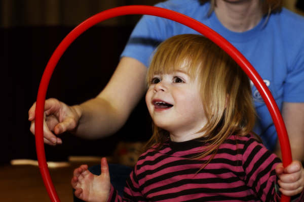 Rhythm Time child with hoop