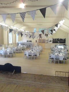 Hall used for a wedding reception