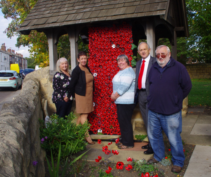Poppy fall with councillors