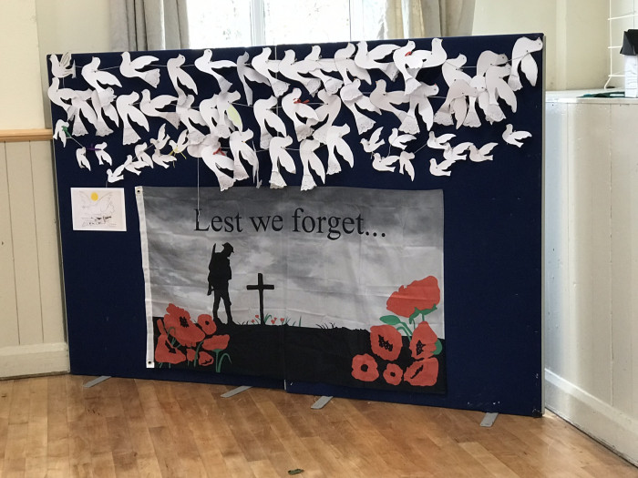 Display in St Mary's Church Hall Kippax