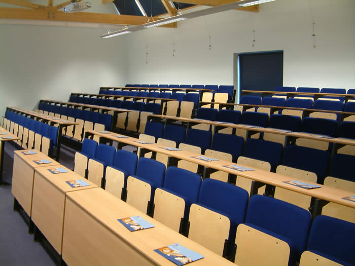 Inside the lecture theatre