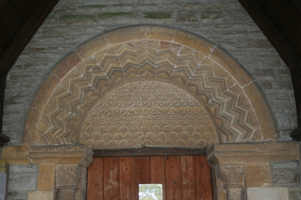 Norman arch over main door