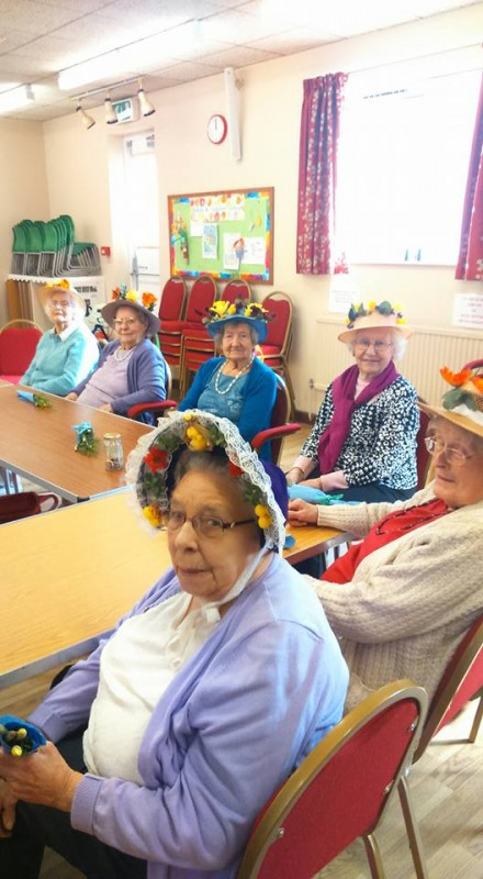 Easter Bonnets with the Wednesday Care Group