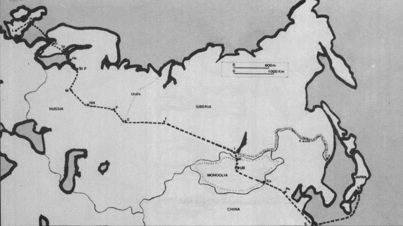 Milne's Overland Journey 1875-76