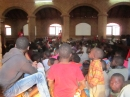 Children in Ekwendeni Church at the recent Ekwendeni Mission visit