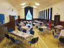 Hall set up for Autumn Coffee Morning