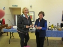 Lynne Macgregor with Irene Morrison Guild Convener in front of the Bric-a-Brac Stall.