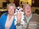 Mary, Ernie and their new dog!