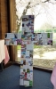 A cross made of items special to our church family