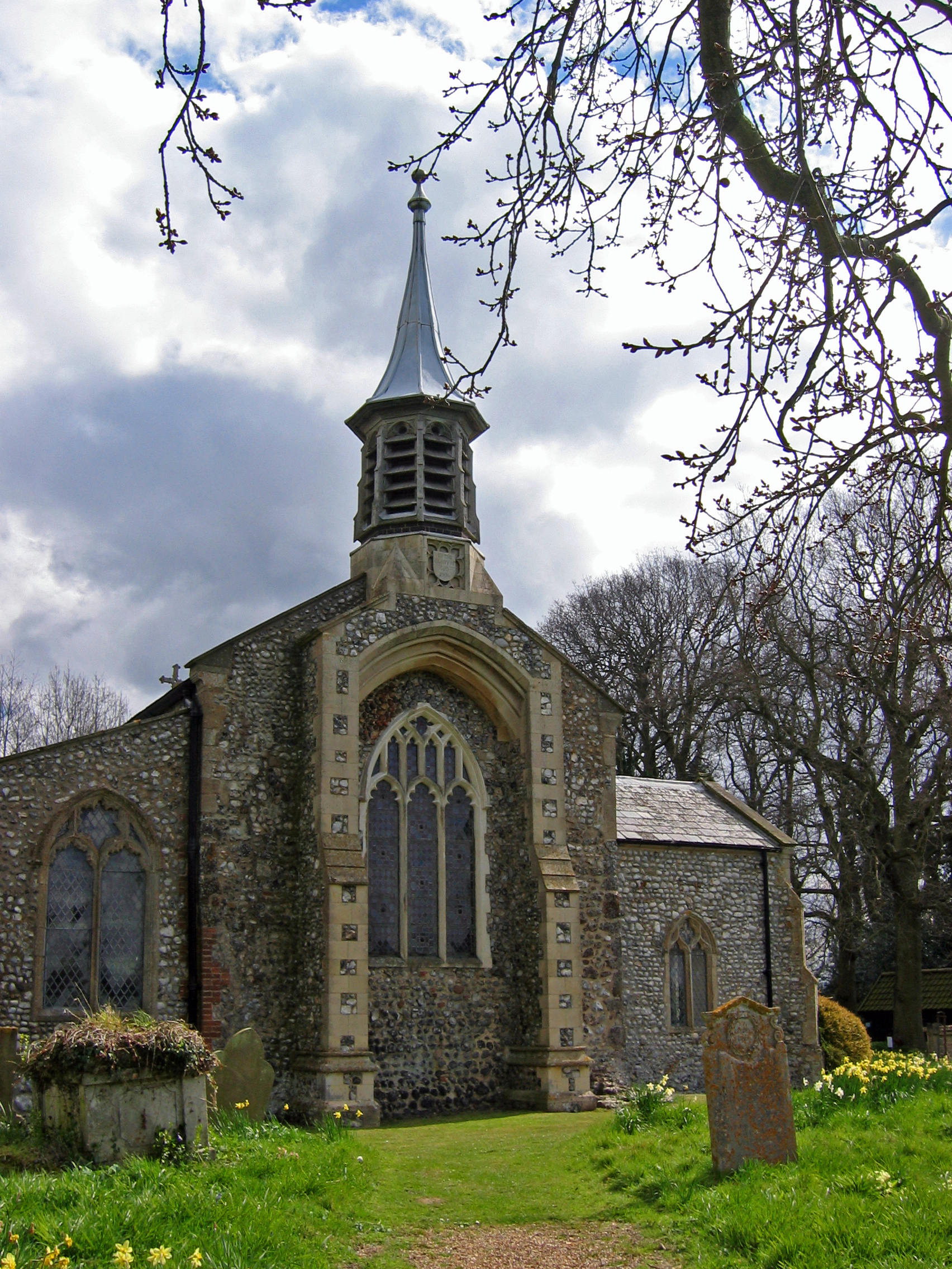 St Mary's Aldborough in Springtime