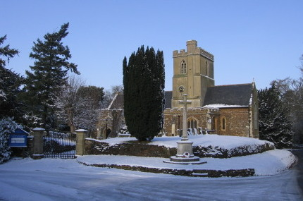 Great Brickhill Church in the Snow