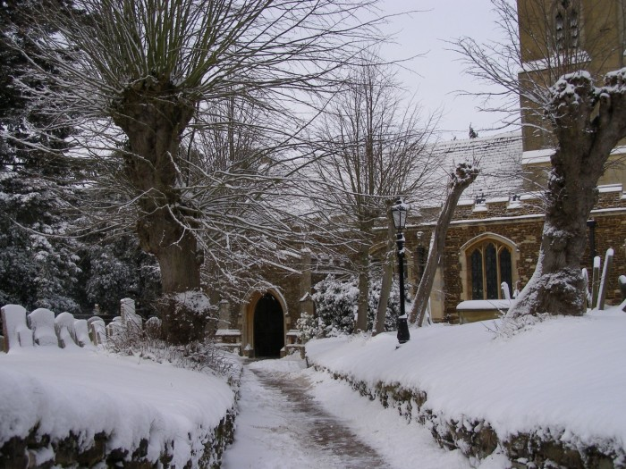 The path up to the church