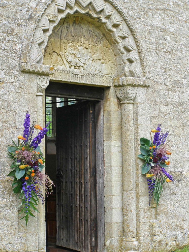St Giles Water Stratford norman arch door and tympanum