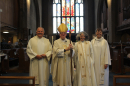 Bishop Jonathan, Archdeacon Chris, Rev Jenny Rowley (Area Dean) and Hazel