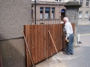 Bill checking the new fence