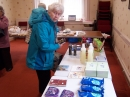 Margaret at the Fairtrade stall
