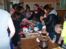 Candy floss and the chocolate fountain were very popular