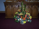 Communion table floral display
