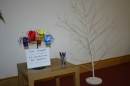 The tree set up in the sanctuary ready for attaching labels