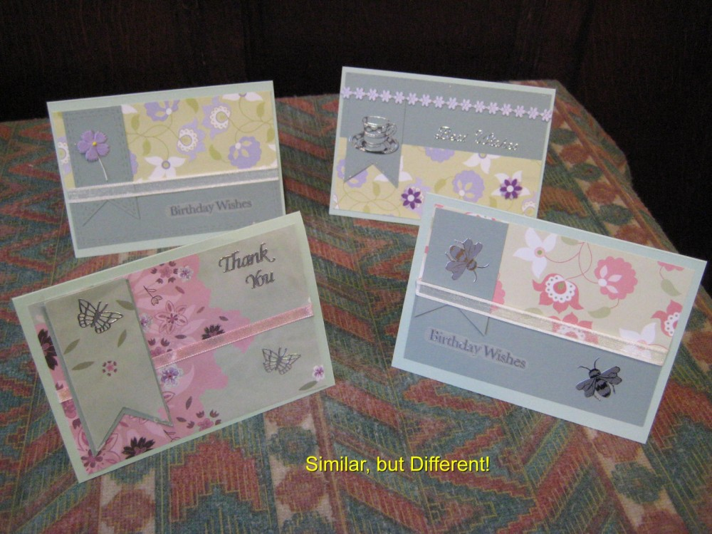 An example of the card making