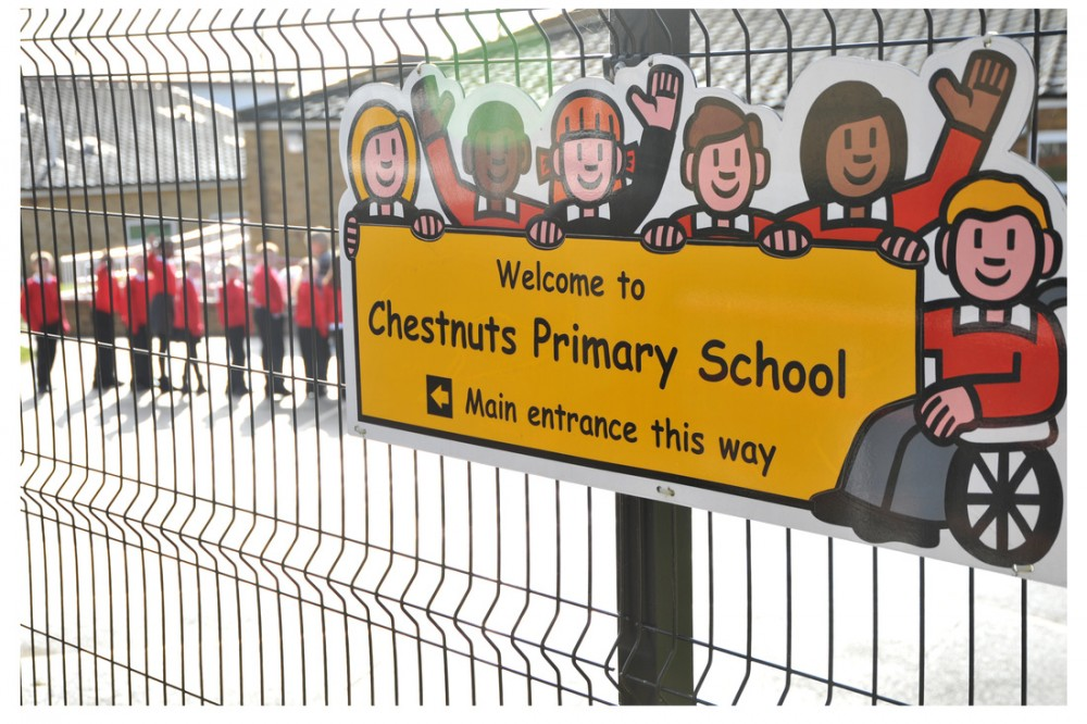 photo of chestnuts school gates