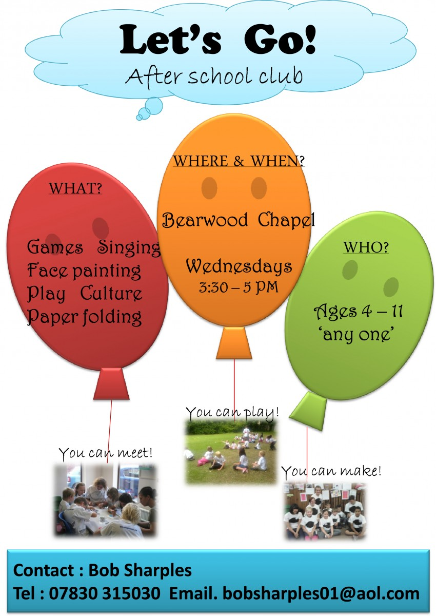 Lets go after school club 3:30-5pm Wednesdays