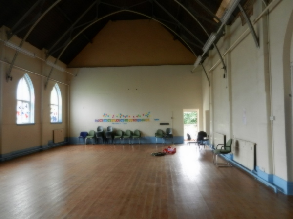 The church hall interior