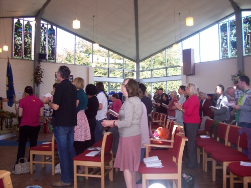 Congregational worship at St John's