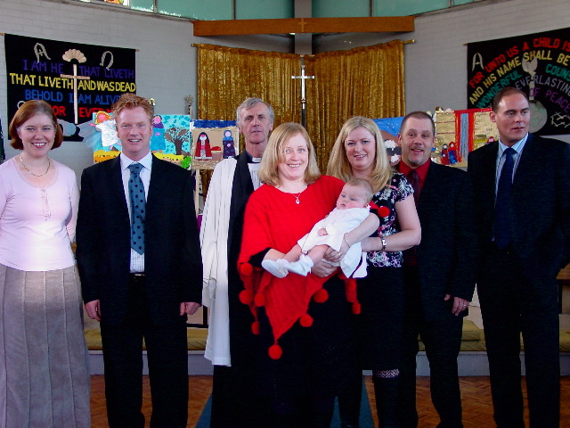A baptism service at St John's