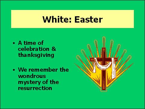 White, Easter