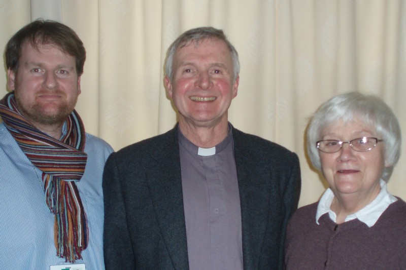 Revd David Brooks, Revd Canon Nick Feist, Revd Freda Jackson