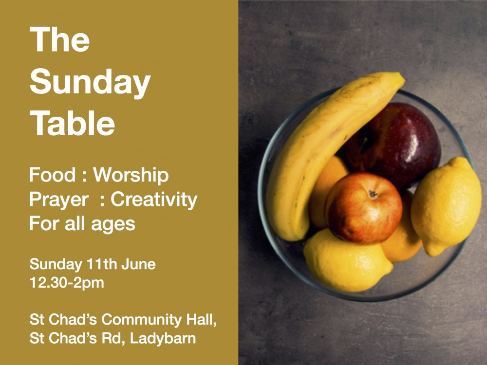 The Sunday Table - a new Fresh Expressions gathering at St Chad's