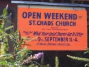 Poster advertising the Open Weekend