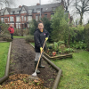 New chipping for paths in the Community Orchard