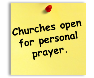 Churches open for prayer