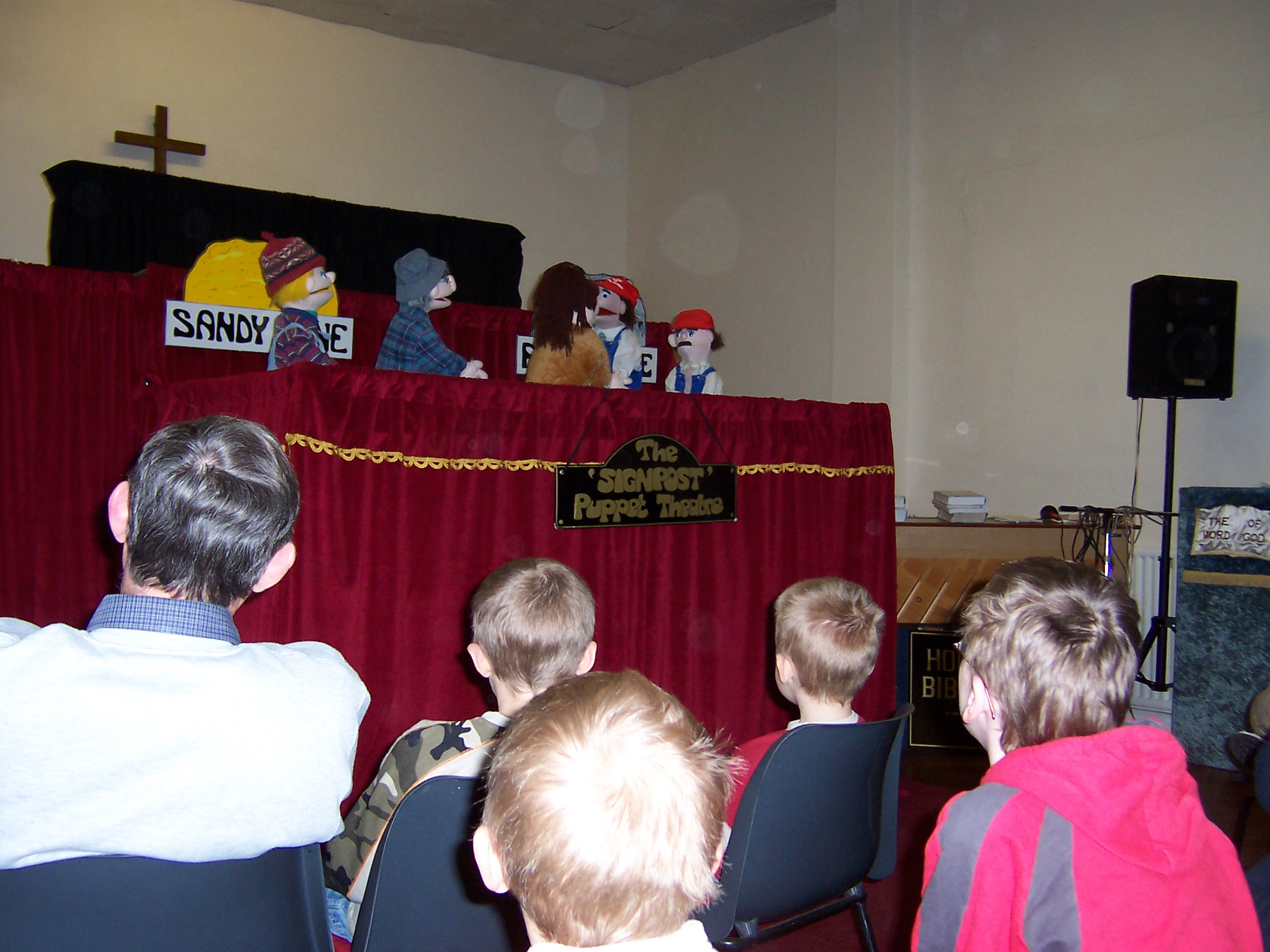 puppet show by signpost