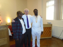Pastor Samuel and Pastor George with Pastor Terry Walsh
